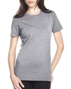Dark Hthr Gray Ladies' CVC Crew Tee