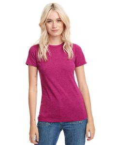 Raspberry Ladies' CVC Crew Tee