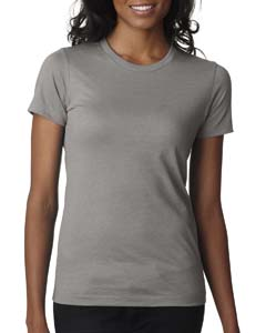 Stone Gray Ladies' CVC Crew Tee
