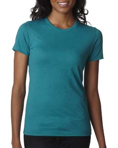 Teal Ladies' CVC Crew Tee