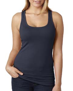 Midnight Navy Ladies' Spandex Jersey Racerback Tank