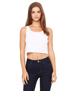 White Ladies' Poly-Cotton Crop Tank