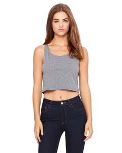 Deep Heather Ladies' Poly-Cotton Crop Tank