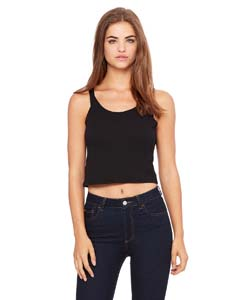 Black Ladies' Poly-Cotton Crop Tank