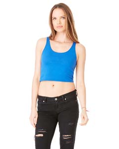True Royal Ladies' Poly-Cotton Crop Tank