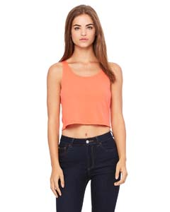 Coral Ladies' Poly-Cotton Crop Tank
