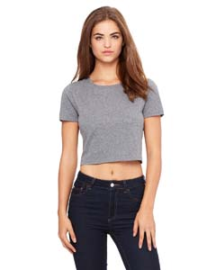 Deep Heather Ladies' Poly-Cotton Crop T-Shirt