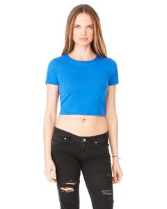 True Royal Ladies' Poly-Cotton Crop T-Shirt