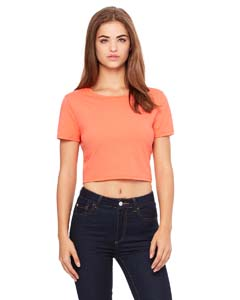 Coral Ladies' Poly-Cotton Crop T-Shirt