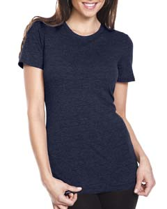 Vintage Navy Ladies Triblend Crew