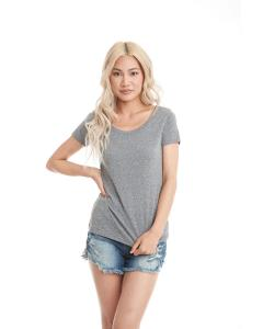 Premium Heather Ladies Triblend Scoop Tee