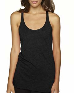 Vintage Black Ladies Triblend Racerback Tank