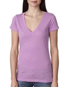 Vintage Lilac Ladies Triblend Deep-V Tee