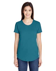 Hth Galap Blue Ladies Triblend Scoop Neck T-Shirt