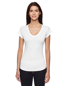 White Ladies Triblend V-Neck T-Shirt