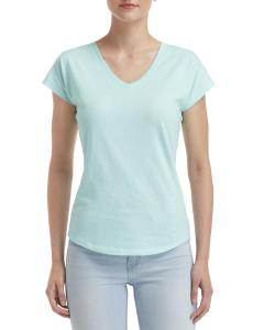 Teal Ice Ladies' Triblend V-Neck T-Shirt