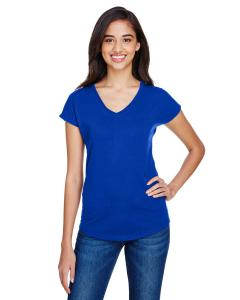 Atlantic Blue Ladies' Triblend V-Neck T-Shirt