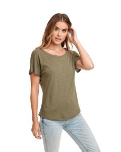 Military Green Ladies Triblend Dolman