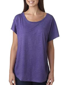Purple Rush Ladies Triblend Dolman