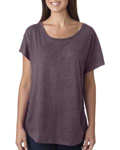 Vintage Purple Ladies Triblend Dolman