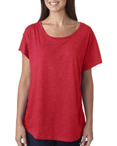 Vintage Red Ladies Triblend Dolman
