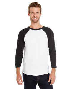White/ Black Men's Baseball T-Shirt