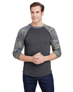 Vn Smke/ Vn Camo Men's Baseball T-Shirt