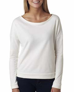 White Ladies Terry Long-Sleeve Scoop Tee