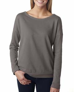 Warm Gray Ladies Terry Long-Sleeve Scoop Tee