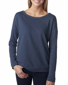 Indigo Ladies Terry Long-Sleeve Scoop Tee