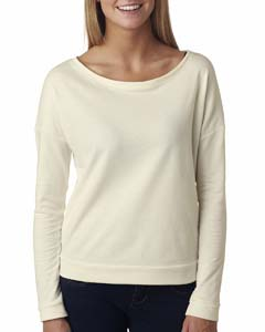 Ivory Ladies Terry Long-Sleeve Scoop Tee