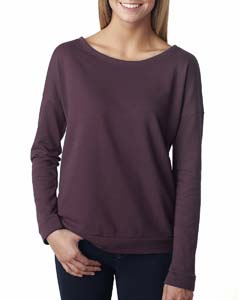 Plum Ladies Terry Long-Sleeve Scoop Tee