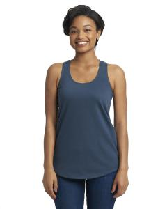 Indigo Ladies Terry Racerback Tank