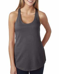 Dark Gray Ladies Terry Racerback Tank