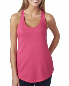 Hot Pink Ladies' French Terry Racerback Tank