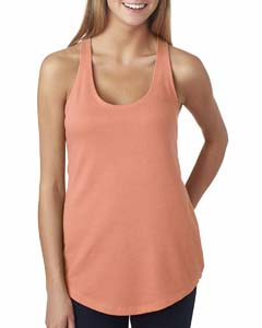 Light Orange Ladies Terry Racerback Tank