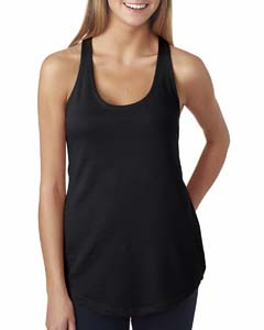 Black Ladies' French Terry Racerback Tank