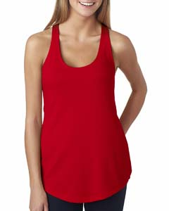 Red Ladies' French Terry Racerback Tank