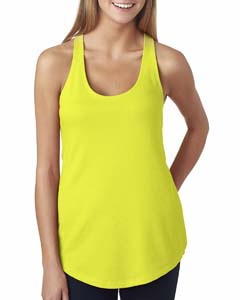 Neon Yellow Ladies' French Terry Racerback Tank