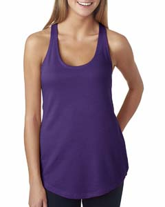 Purple Rush Ladies' French Terry Racerback Tank