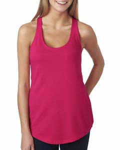 Raspberry Ladies Terry Racerback Tank