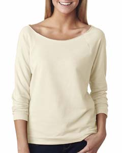 Ivory Ladies' French Terry 3/4-Sleeve Raglan