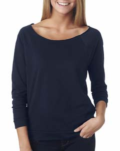Midnight Navy Ladies' French Terry 3/4-Sleeve Raglan