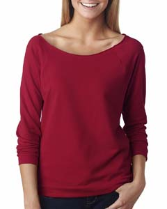Scarlet Ladies' French Terry 3/4-Sleeve Raglan