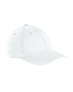 White Garment-Washed Twill Cap