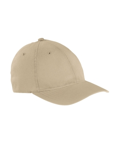 Khaki Garment-Washed Twill Cap