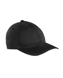 Black Garment-Washed Twill Cap