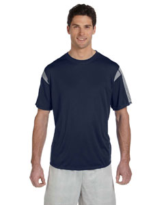 Navy/steel Short-Sleeve Performance T-Shirt