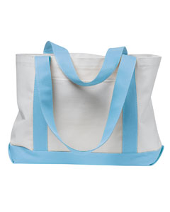 White/light Blue P & O Cruiser Tote