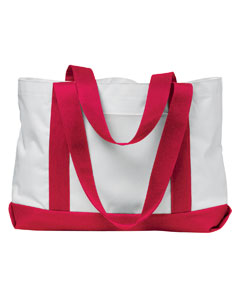 White/red P & O Cruiser Tote